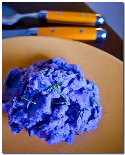 Mashed Blue Potatoes