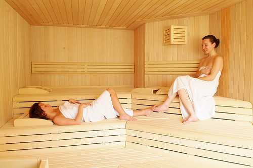 Sweating Toxins Out in a Sauna